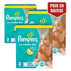 Pampers - Giga Pack 432 Couches Active Baby Dry taille 3