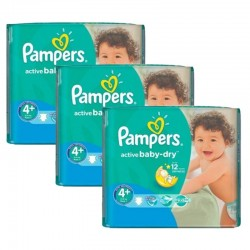 Pampers - Maxi Pack 192 Couches Active Baby Dry taille 4+ sur Couches Poupon