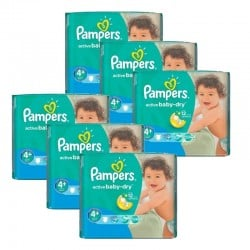 Pampers - Maxi Pack 288 Couches Active Baby Dry taille 4+
