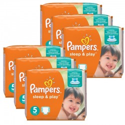 Pampers - Mega Pack 232 Couches Sleep & Play taille 5