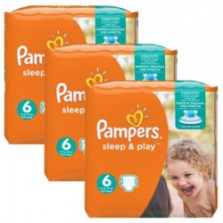 Pampers - Mega Pack 120 Couches Sleep & Play taille 6 sur Couches Poupon