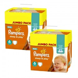 Pampers - Maxi Pack 210 Couches Sleep & Play taille 5 sur Couches Poupon