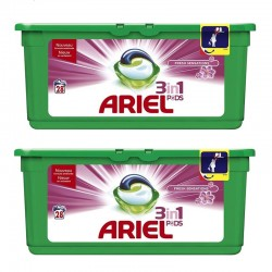 Lot de 2 Ariel Pods 28 Fresh Sensations 3in1 (795,2 gr) sur Couches Poupon