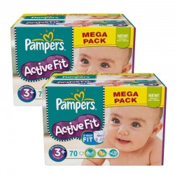 Giga Pack 140 Couches Pampers Active Fit sur Couches Poupon