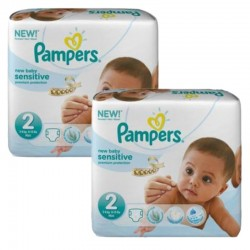 Pampers - Mega pack 120 Couches New Baby Sensitive
