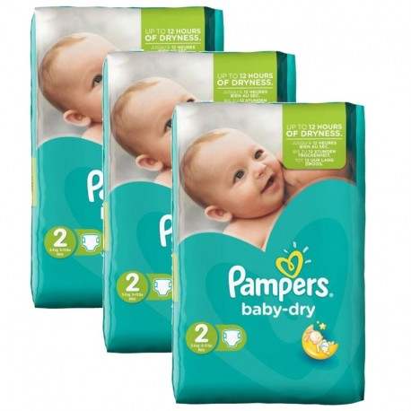 Giga Pack 126 couches Pampers Baby Dry sur Couches Poupon