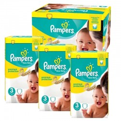 Mega Pack 300 couches Pampers New Baby Premium Protection sur Couches Poupon