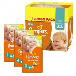 Pampers - Maxi Pack 328 Couches Sleep & Play taille 3