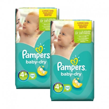 Giga Pack 112 couches Pampers Baby Dry sur Couches Poupon