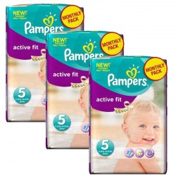 Maxi Mega Pack 282 couches Pampers Active Fit sur Couches Poupon