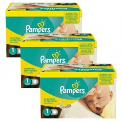Pampers - Pack Jumeaux 506 Couches new baby - premium protection taille 1