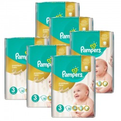 Pampers - pack Jumeaux 480 Couches Premium Care - Prima taille 3