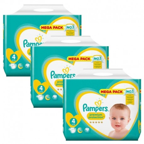 Giga Pack 234 Couches Pampers New Baby Premium Protection sur Couches Poupon