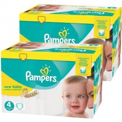 Giga Pack Jumeaux 585 couches Pampers New Baby Premium Protection sur Couches Poupon