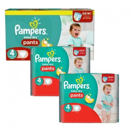 Pampers - Giga Pack 188 Couches Baby Dry Pants taille 4 sur Couches Poupon