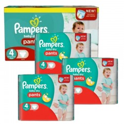 Mega Pack 376 couches Pampers Baby Dry Pants sur Couches Poupon