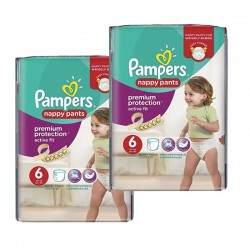 Pack 28 couches Pampers Active Fit Pants sur Couches Poupon