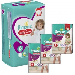 Maxi Giga Pack 140 Couches Pampers Active Fit Pants sur Couches Poupon