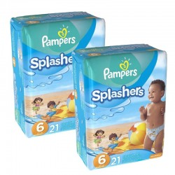 Pack 42 Couches de Bain Pampers Swimming Pants Splashers sur Couches Poupon