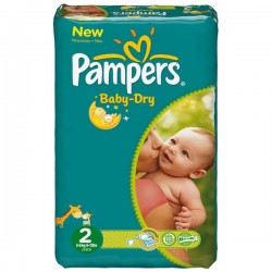 Couches Pampers Baby Dry Taille 2 Sur Couches Poupon