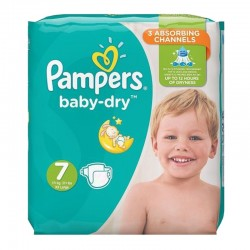 Pack 30 couches Pampers Baby Dry sur Couches Poupon