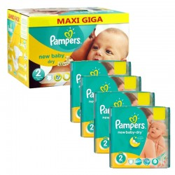 Maxi Giga Pack 301 couches Pampers New Baby Dry sur Couches Poupon