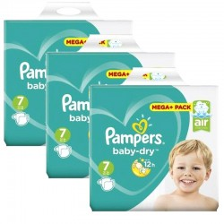 Mega Pack 174 couches Pampers Baby Dry sur Couches Poupon