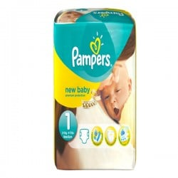 New Baby - 56 Couches Pampers taille 1