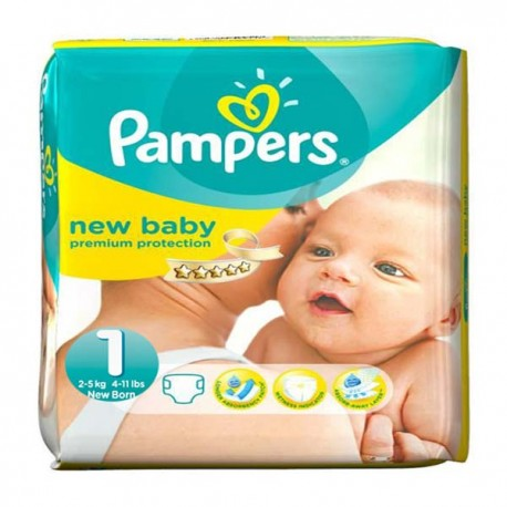 New Baby - 56 Couches Pampers taille 1 sur Couches Poupon