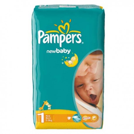 New Baby Dry - 43 Couches de Pampers taille 1 sur Couches Poupon