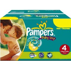 Pampers - Giga pack 205 Couches Baby Dry taille 4+ sur Couches Poupon