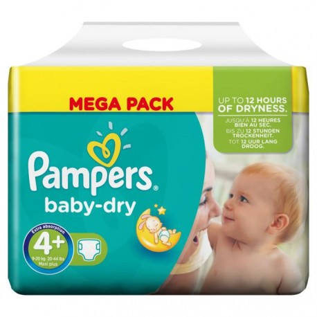 111 Couches Pampers Baby Dry Taille 4 En Solde Sur Couches Poupon