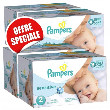 Pampers - Maxi giga pack 300 Couches New Baby Sensitive sur Couches Poupon