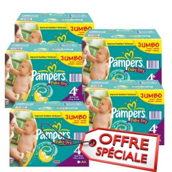 Pampers - Mega pack 123 Couches Baby Dry taille 4+ sur Couches Poupon