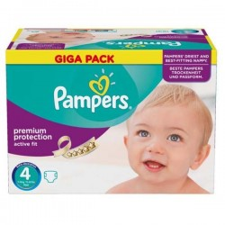Pampers - Maxi giga pack 328 Couches Active Fit Premium Protection taille 4 sur Couches Poupon