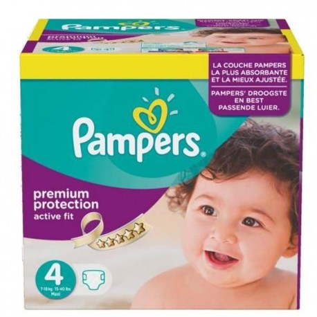 Pampers - Maxi mega pack 410 Couches Active Fit Premium Protection taille 4 sur Couches Poupon
