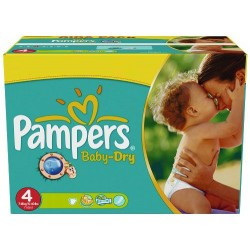Pampers - Mega pack 176 Couches Baby Dry taille 4 sur Couches Poupon