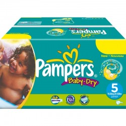 Pampers - Maxi mega pack 432 Couches Baby Dry