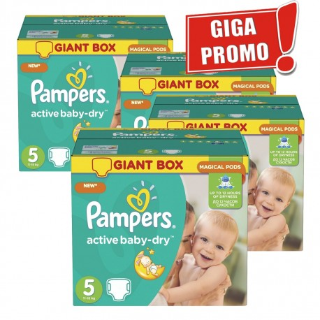Pampers - Giga pack 290 Couches Active Baby Dry sur Couches Poupon