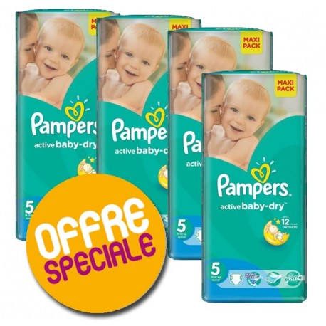 Pampers - Maxi giga pack 348 Couches Active Baby Dry sur Couches Poupon