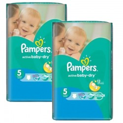 Pampers - Maxi mega pack 406 Couches Active Baby Dry