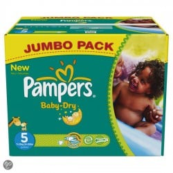 Baby Dry - 92 Couches Pampers taille 6 sur Couches Poupon