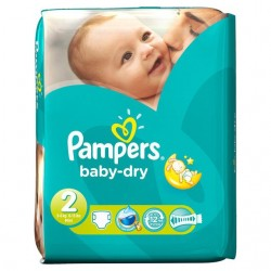 Pampers - Pack 46 Couches Baby Dry taille 2 sur Couches Poupon