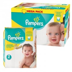Pampers - Mega pack 155 Couches New Baby Premium Protection taille 2 sur Couches Poupon