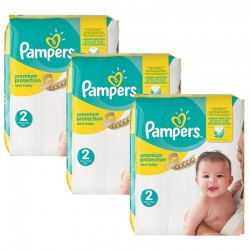 Pampers - Maxi giga pack 341 Couches New Baby Premium Protection taille 2