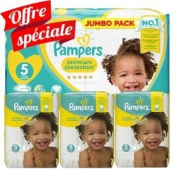 Pampers - Mega pack 180 Couches New Baby Premium Protection taille 5 sur Couches Poupon