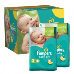 Pampers - Mega pack 184 Couches Baby Dry taille 2