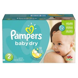 Pampers - Giga pack 276 Couches Baby Dry taille 2