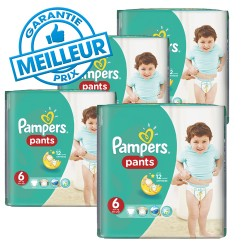 Pampers - Pack 42 Couches Baby Dry Pants taille 6 sur Couches Poupon
