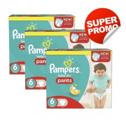 Pampers - Mega pack 112 Couches Baby Dry Pants taille 6 sur Couches Poupon